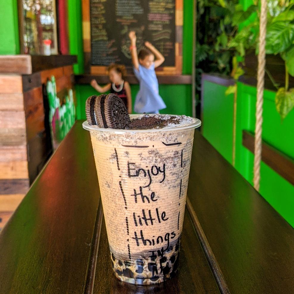 FIRE Travel Family - Always Buy The Coconut - Financial Independence - Retire Early - Bambu Tea Coffee San Ignacio - Belize