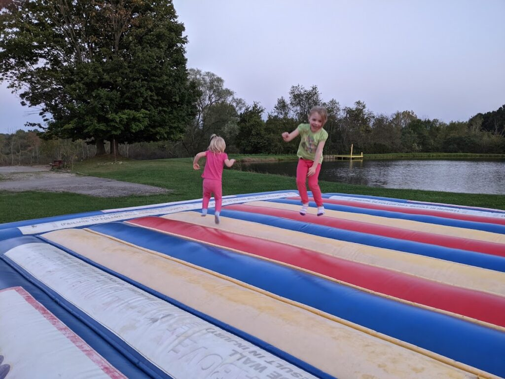 FIRE Travel Family - Ohio - Kids on Jump Pad - Financial Independence - Retire Early